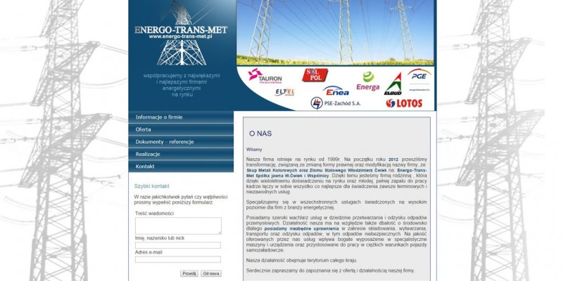 Energo-Trans-Met – branża energetyczna