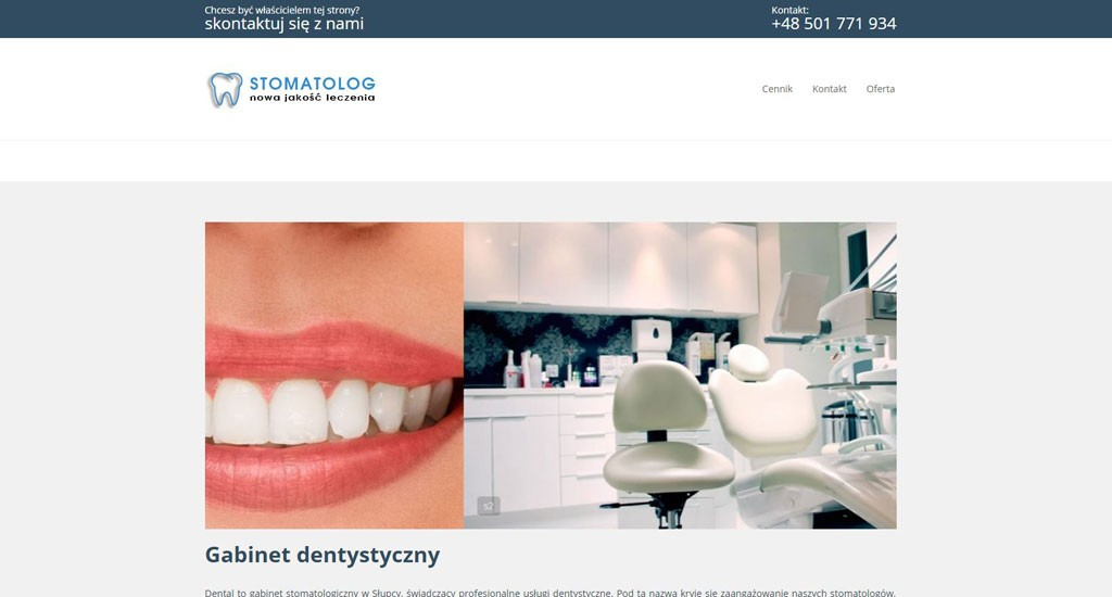 Przykład strony www dla stomatologa