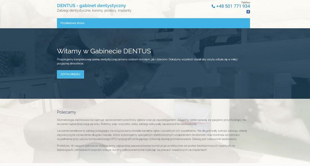 Szablon dla stomatologa 2