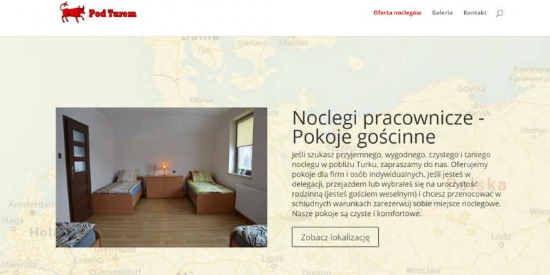 Strona internetowa noclegów pracowniczych w Turku